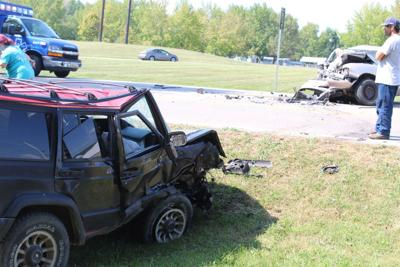One injured in crash on 32