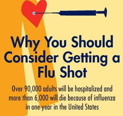 Urges residents to get flu shot after early flu-related death