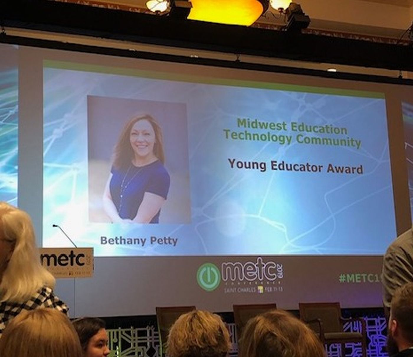 Central's Petty wins Young Educator's Award from METC