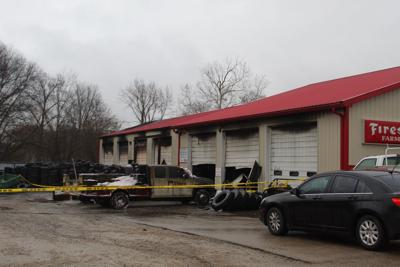 Tire store recouping after fire