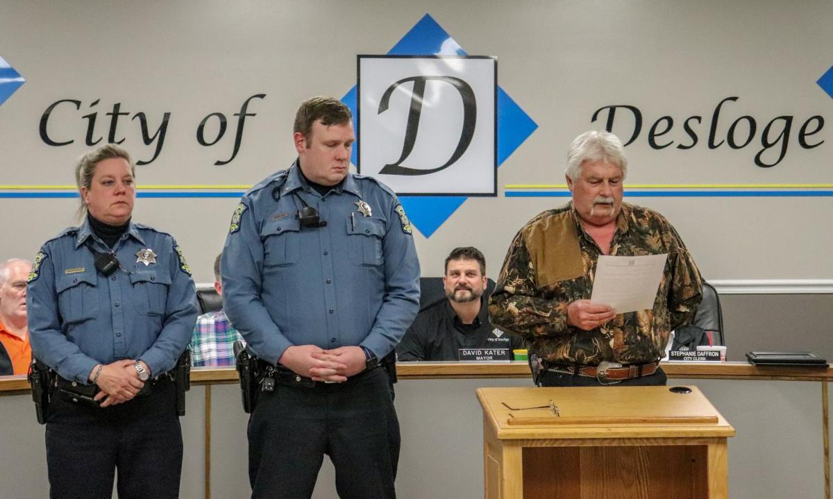 Desloge officers commended for saving life