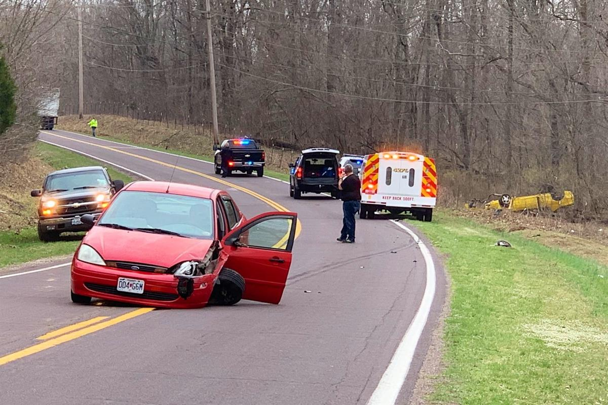 Two hurt in head-on collision