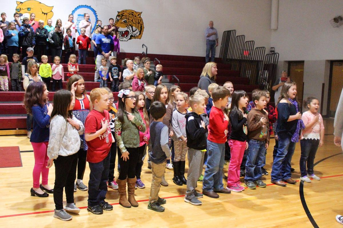 Bismarck School honors veterans