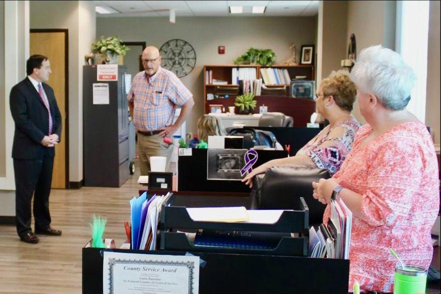 Ashcroft meets St. Francois County election officials