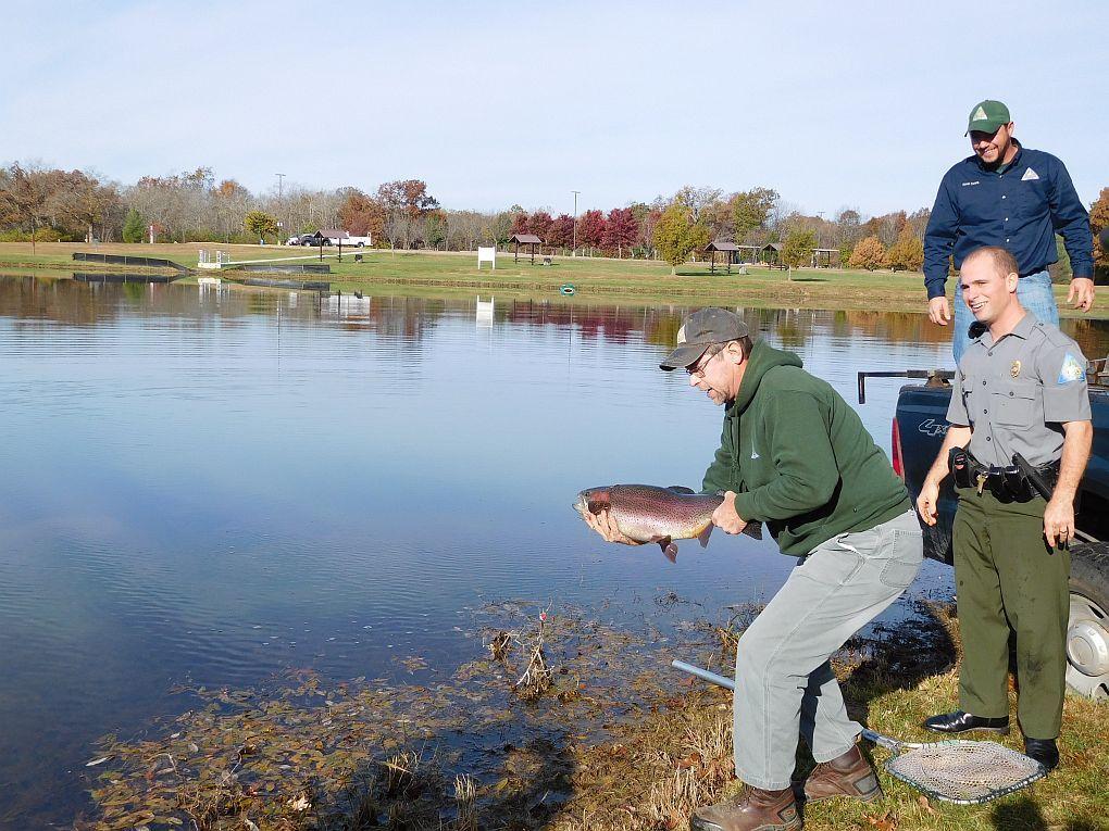 MDC stocks trout in southeast Missouri lakes