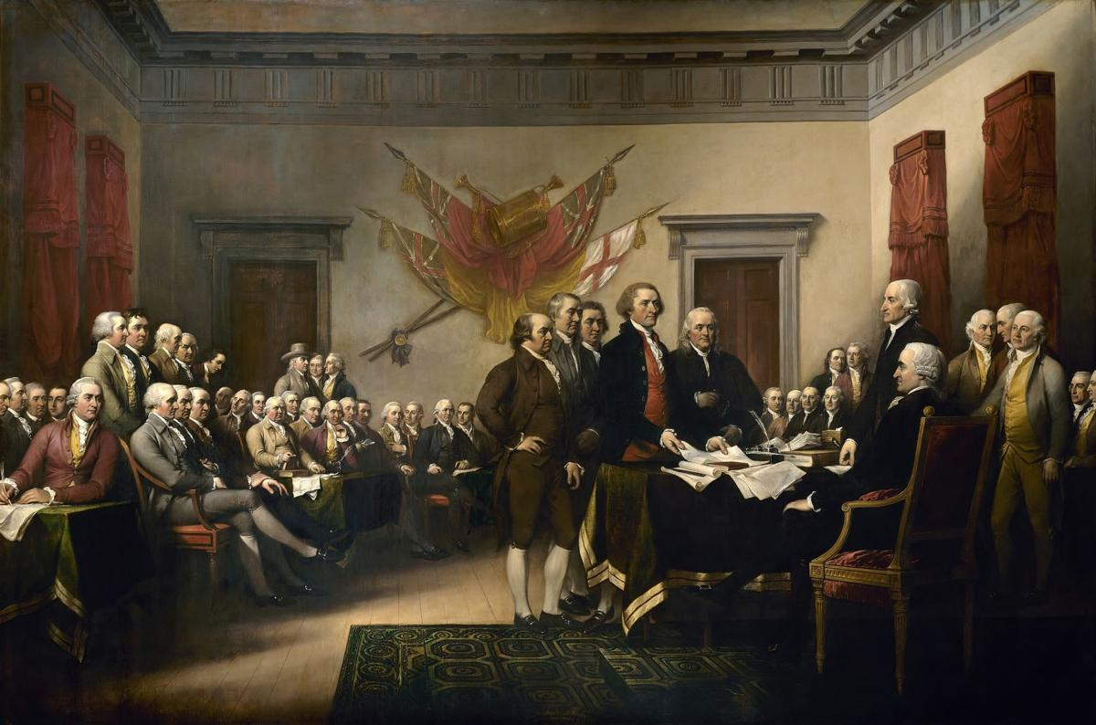 The 56 men who signed the Declaration of Independence