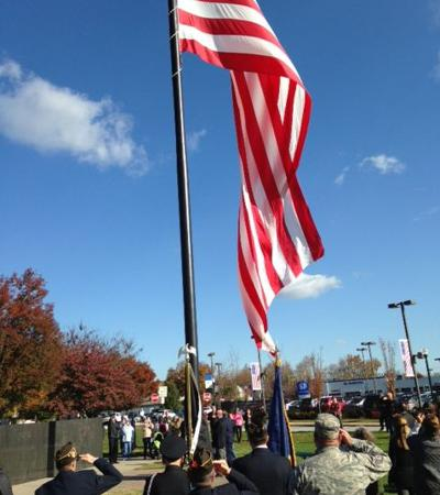 Annual Veterans Day flag raising
