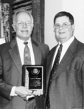 Rotary club honors man for service