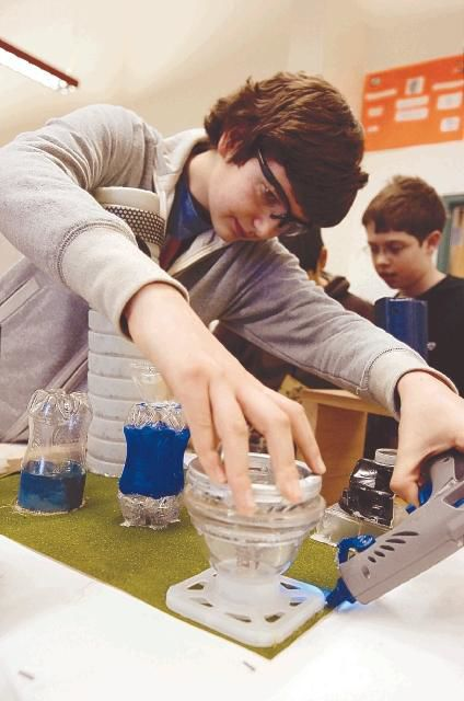 Stetson Middle School eighth-grade students build metropolis of tomorrow for regional competition