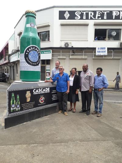 Tusker Bottle Replaced with Cascade Bottle