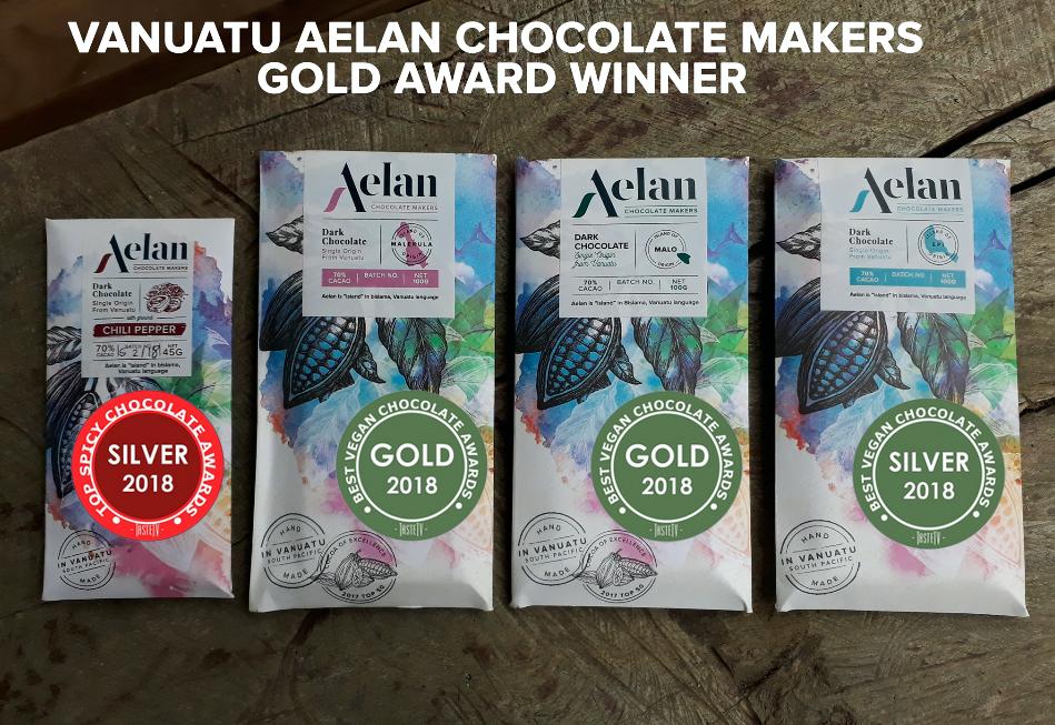 Gold for Vanuatu Aelan Chocolate Makers