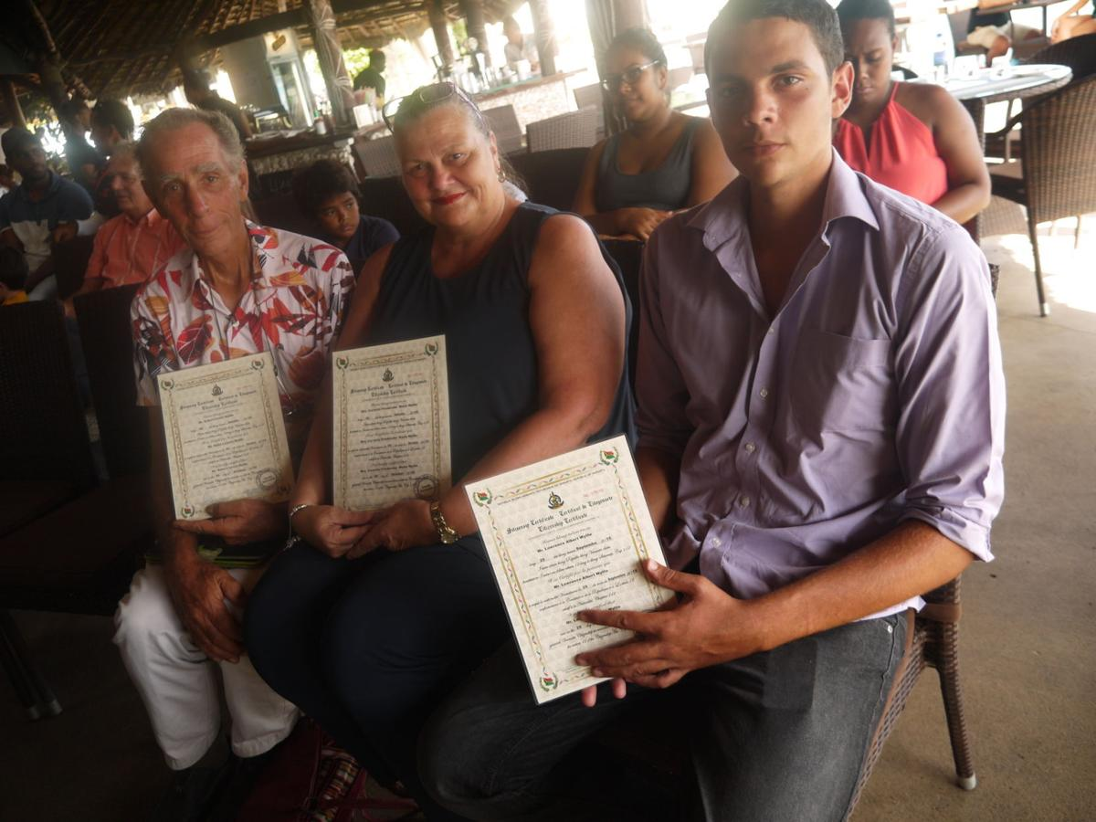 New Vanuatu citizens receive their Citizenship certificates
