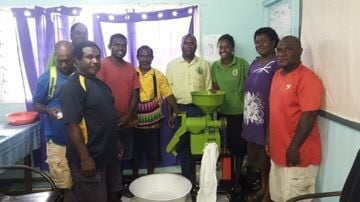Handing over of rice milling machine to PAO SANMA