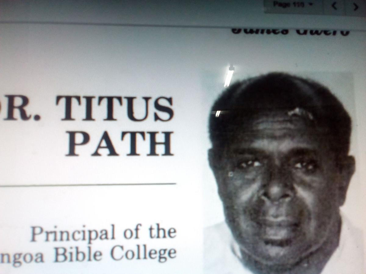 Late  Dr. Titus Path, By Godwin Ligo