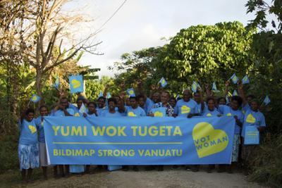 选举妇女进入议会运动在Malekula上展开