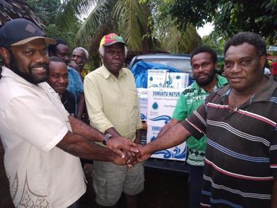 Air Vanuatu and Azure Pure Water Assist TAFEA Community