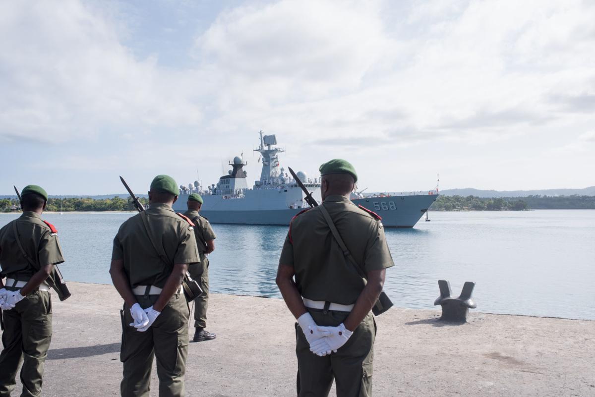 Chinese Navy Flotilla Visits Port Vila