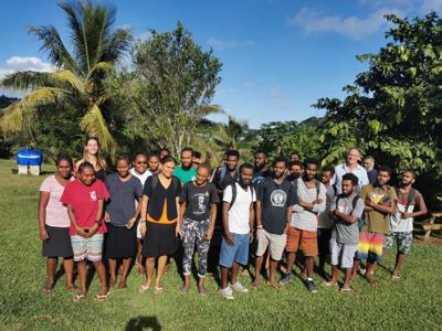 Vanuatu Brewing Ltd presents recycling policy to National University environment students
