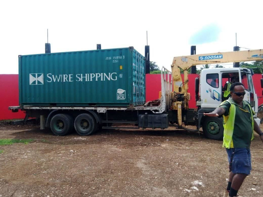 Port Vila Football Association brings in new storage container