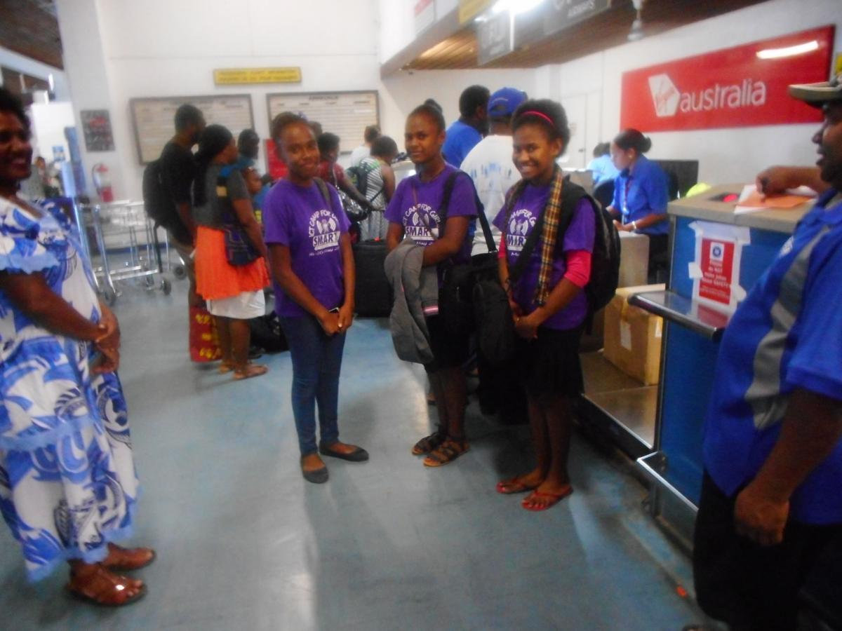 SMART Sistas girls leave for FIRST Global Challenge in USA