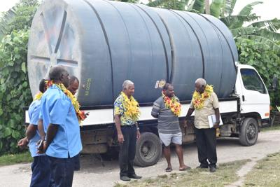Water tanks to run Mele water supply system