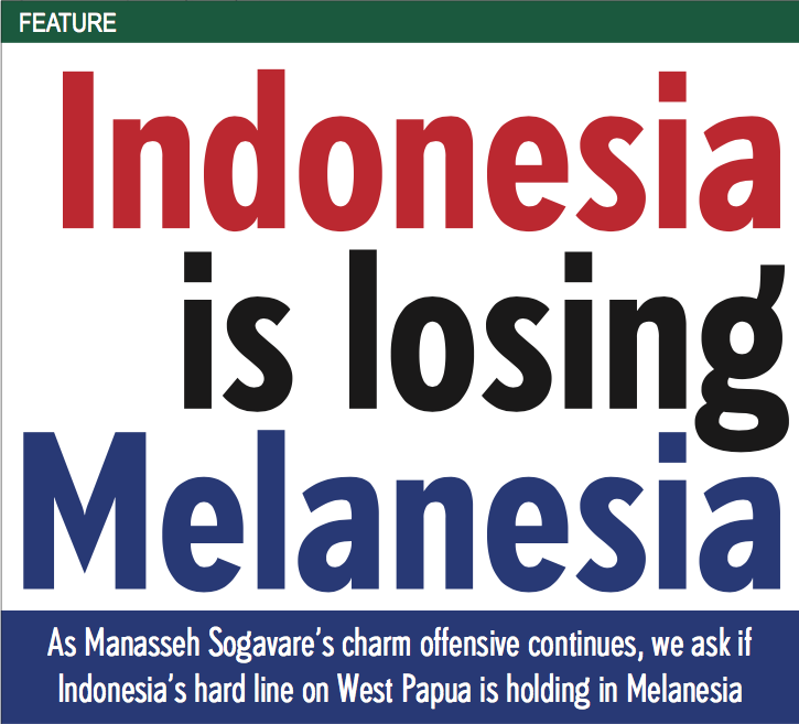 Indonesia is losing Melanesia
