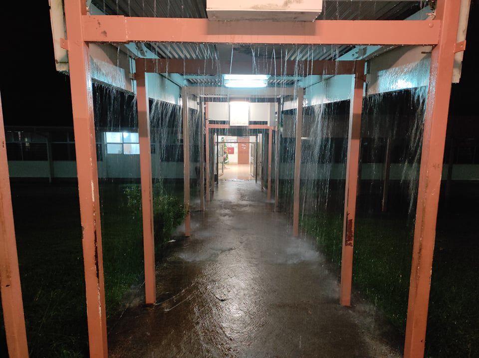 Maternity Ward Entrance Flooded During Heavy Rainfall
