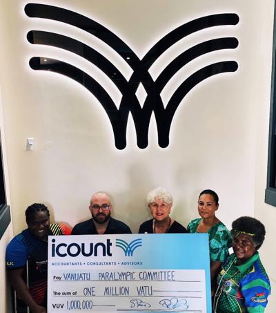 iCount donates Vt1m assistance to para-athletes
