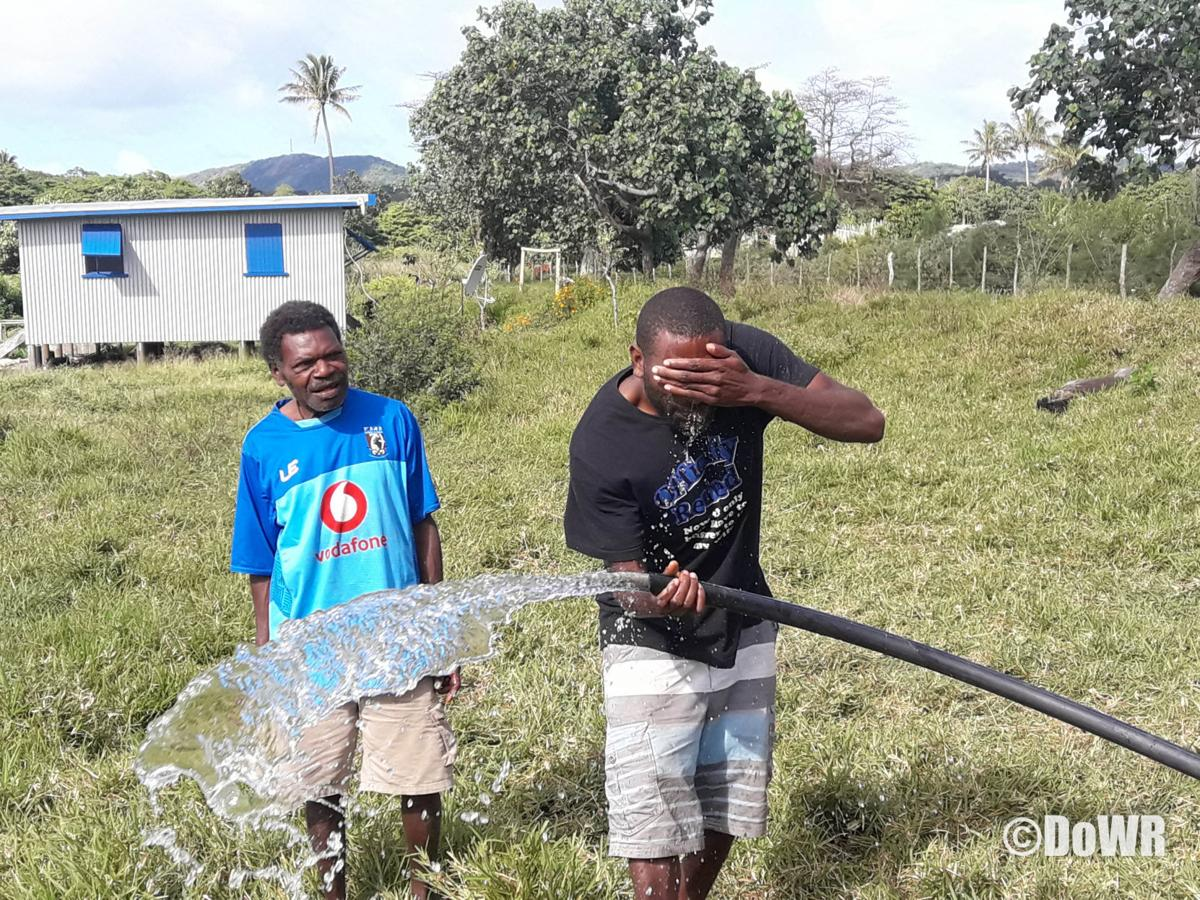 Drilling for Water at Middlebush, Tanna a Success