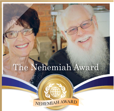 Victor and Elsie with Nehemiah Award