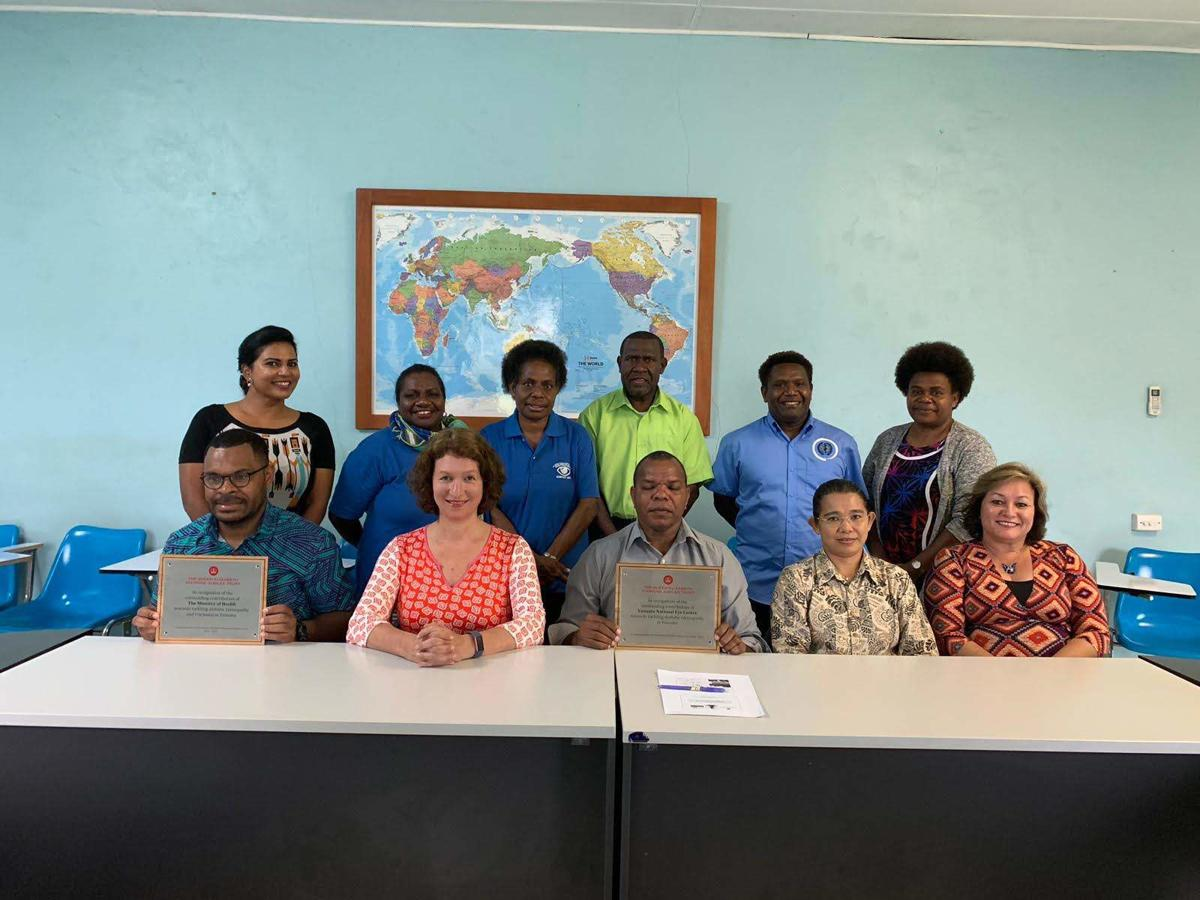 Queen Elizabeth Diamond Jubilee Trust commends progress achieved in Vanuatu to tackle avoidable forms of blindness