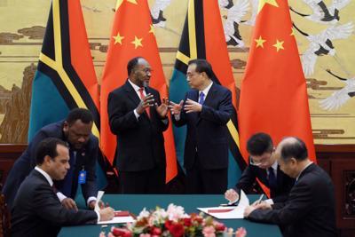 中国和瓦努阿图的关系更加紧密