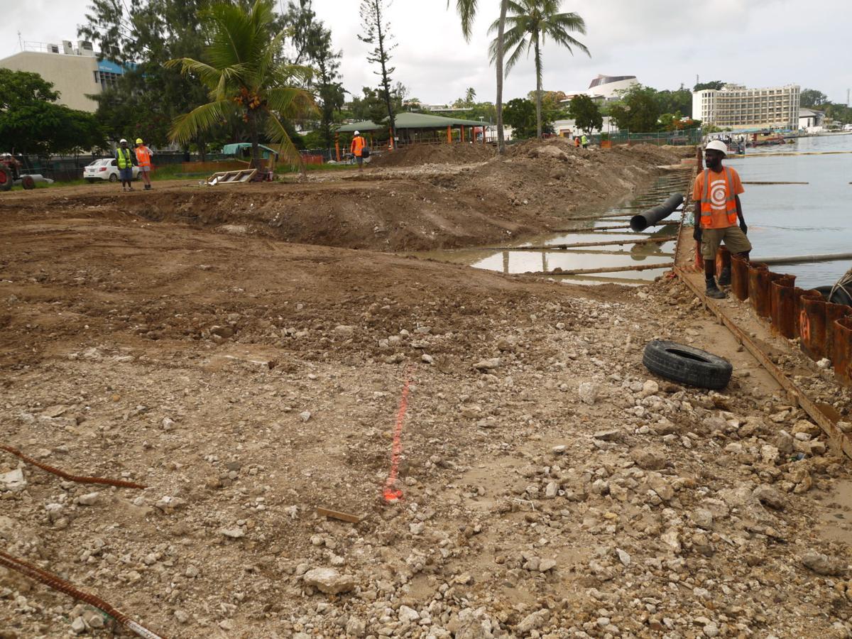 Vanuatu Tourism Infrastructure Project construction work well underway