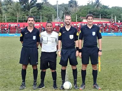 French League referees officiated matches for PVFA