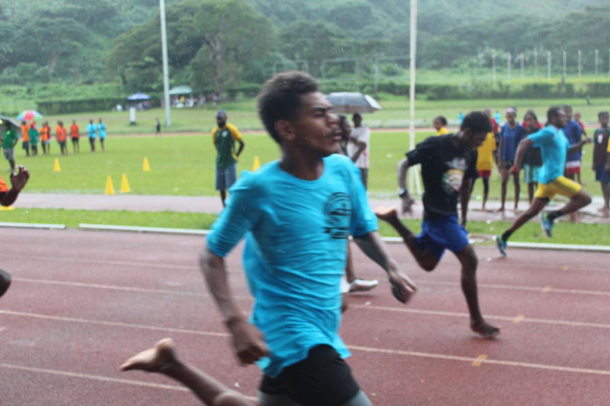 ESSA game competitions commence in Port VilaCategory B 100m heat.