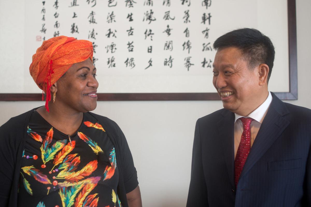 Kizz and Ambassador Liu Quan