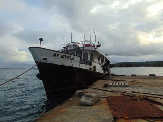 SHIP RUNS AGROUND, 2 INJURED