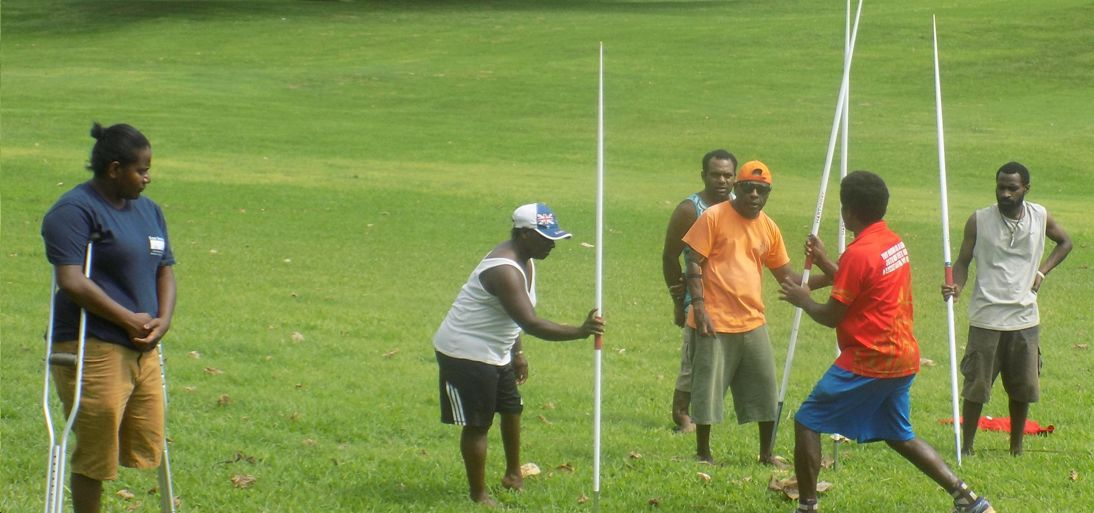 South Pacific Mini Games Para-athletes in training