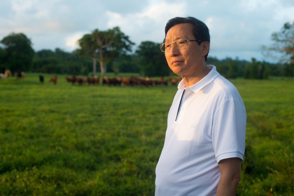 Chinese Minister of Agriculture visits Cattle Farm at Rentapao