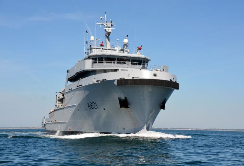 FRENCH NAVY SHIP SENT BACK