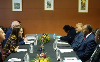 PM Salwai holds bilateral talks with NZ counterpart