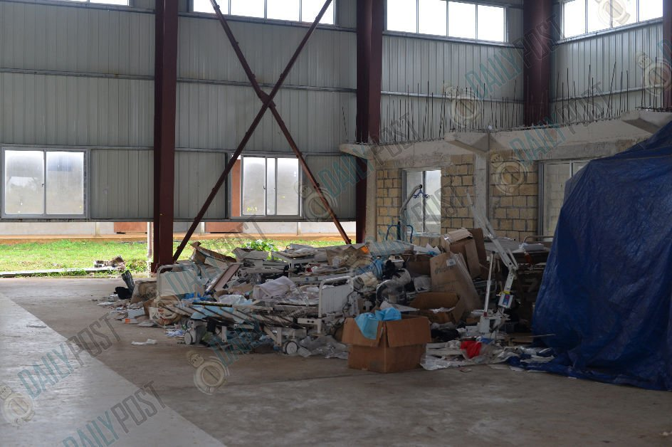 Medical Supplies Discarded at Epauto Multipurpose Hall