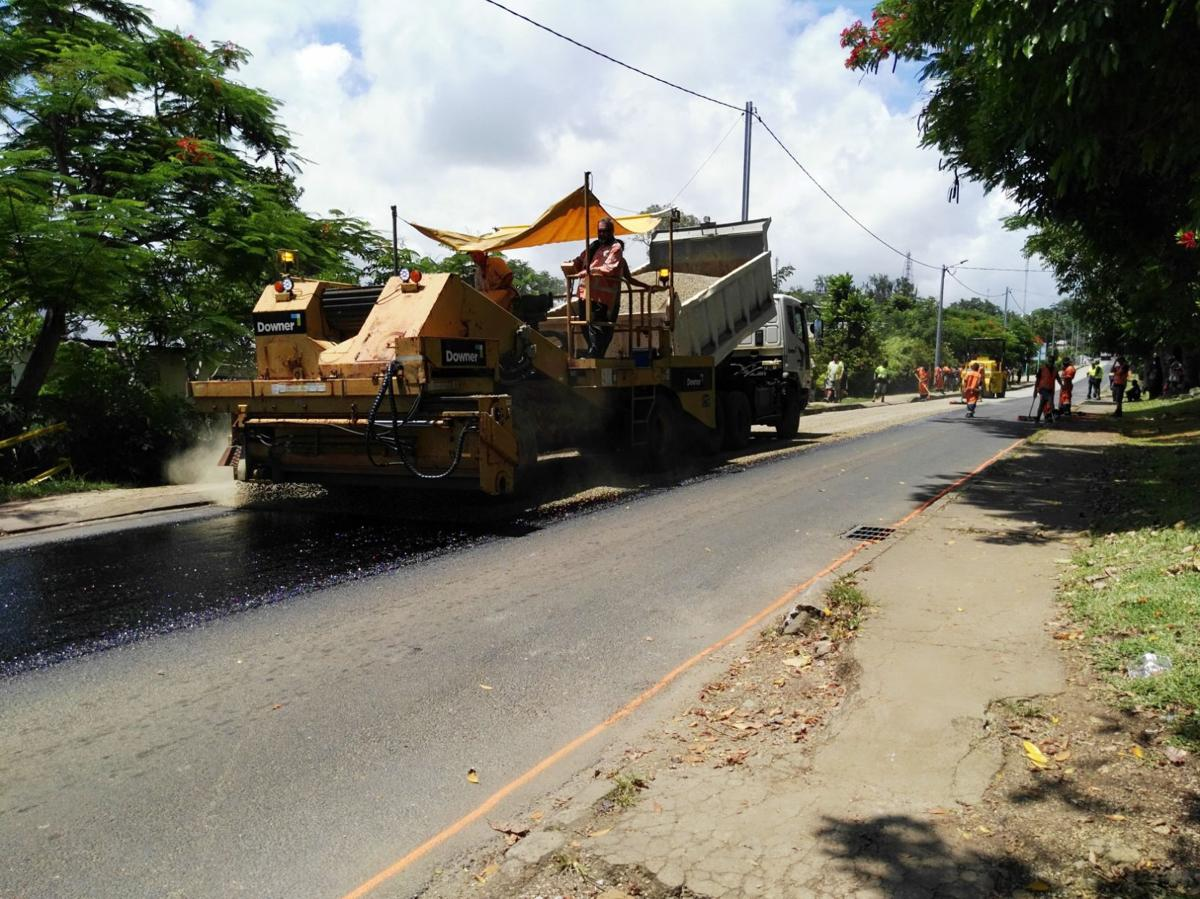 Road sealing; One step in a series of improvements to Port Vila roads