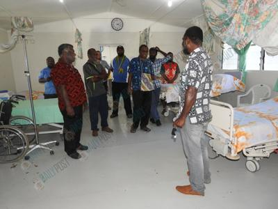 Delegation impressed with Ambae Hospital