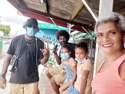 Doughty family in Ba, Fiji supports Giovannie Samuel