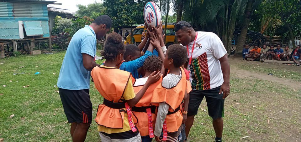 Get Into Rugby programme introduced to End-Blo airport kids
