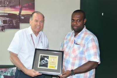 Air Vanuatu maintains support to WWII Museum