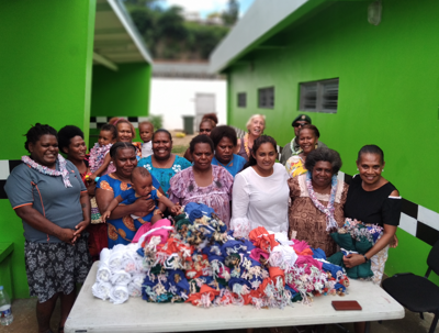 Female detainees support COVID infection prevention