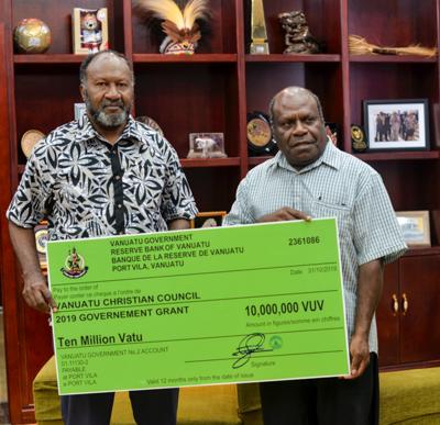 PM wants Vanuatu Christian Council to be transparent with Vt10 million grant