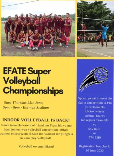 Invitation for Efate Super Volleyball Championships
